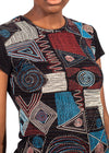 Close up view of African Renaissance shirt