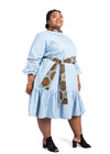 Chipiwo - Blue Chambray Trapeze Dress