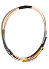 Elizabeth Morr - Gold and Blue Triple Necklace