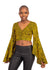 Naturelle - Mustard Leaves Print Wrap Crop Top