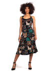 African Renaissance - Turquoise Print 3/4 Cocktail Dress