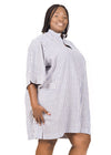 Blue and white striped Linen Shirt Dress by Amelia Wearhouse on Rightland