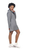 Baroque Grey Hoodie worn as mini dress