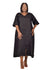 Baroque - Black Linen V-Neck Dress