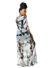 Baroque | Kaftan Dress Chiffon Black & White