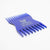 Friends With Beards - Beard Comb, Cheque Card Size, Blue
