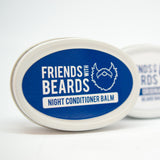 Friends With Beards Night conditioner balm and beard balm tins