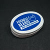 Friends With Beards Night Conditioner Balm. Oval white tin with blue label