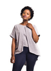 "Grey Linen Blouse ""Hlori"" by Her Ritual on Rightland"
