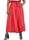 Elegant, red wide legged trousers by Judith Atelier.