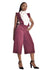 Chipiwo - Maroon Jumpsuit and Blouse Set