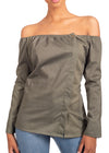Naturelle - Bardot Neck Top