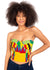 Naturelle - Yellow Kente Print Bustier Top