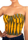 Naturelle - Yellow Pods Print Bustier Top