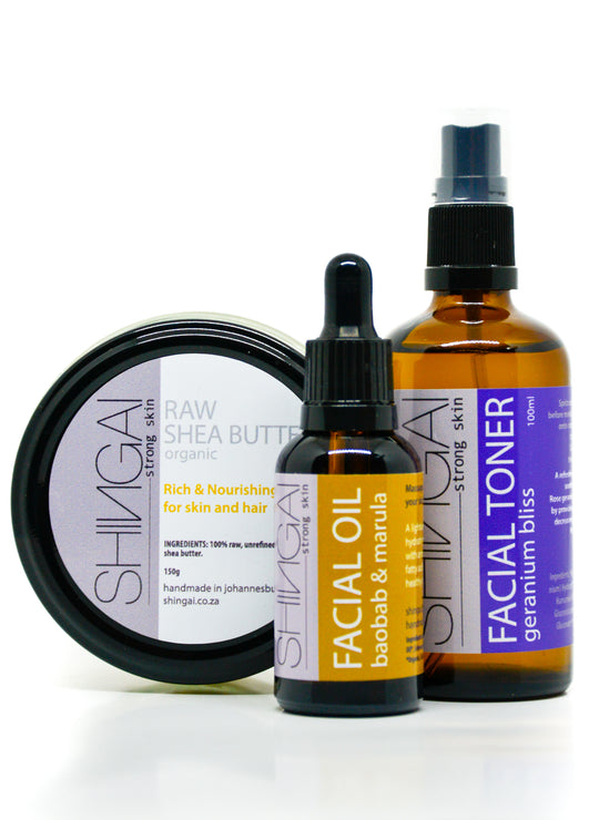 SHINGAI - Facial Oil | Toner | Shea Butter Combo