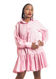 Amelia Wearhouse - Long Sleeve Frill Dress