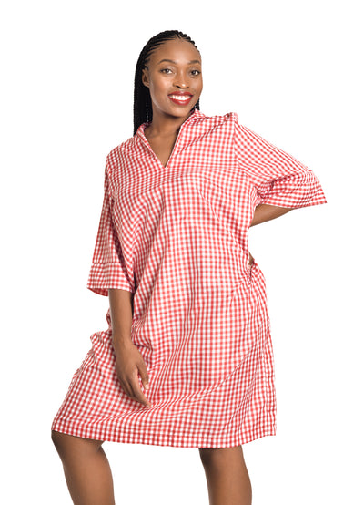 Amelia Wearhouse - Red White Checker Dress