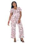 Pink Floral jumpsuit by Julietta by Romeo.