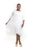 Baroque - White Linen Dress