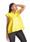 Amelia Wearhouse - Sleeveless Top Stars yellow