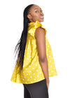 Amelia Wearhouse - Sleeveless Top Stars yellow side view