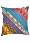 Thick striped, shweshwe cushion covers.