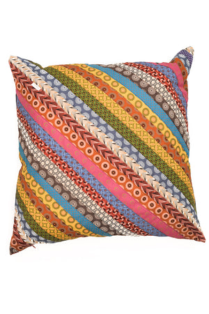 Thin striped, shweshwe cushion covers by Totoma.
