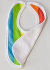 Cute totoma rainbow bib feeder front and back view