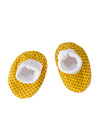 Cute totoma shweshwe booties yellow print