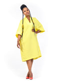 Amelia Wearhouse - Yellow and White Shirtdress