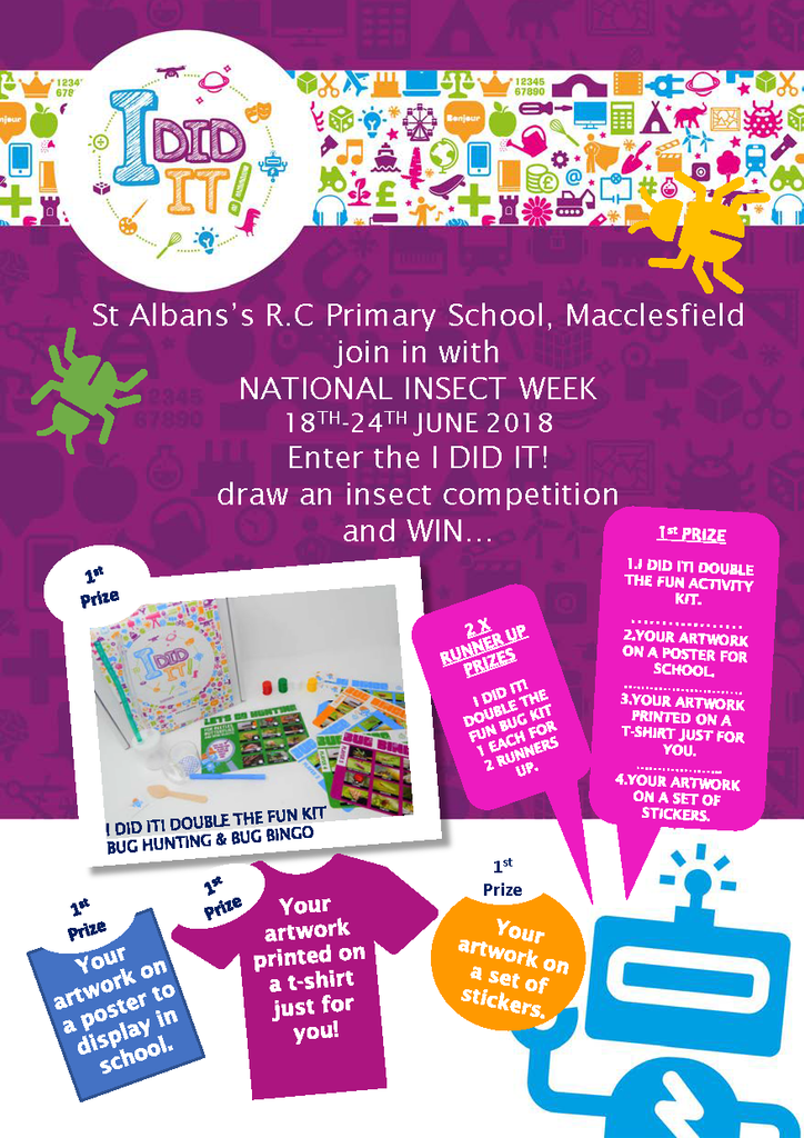 Insect Art Competition with St Alban's R.C Primary School, Macclesfield