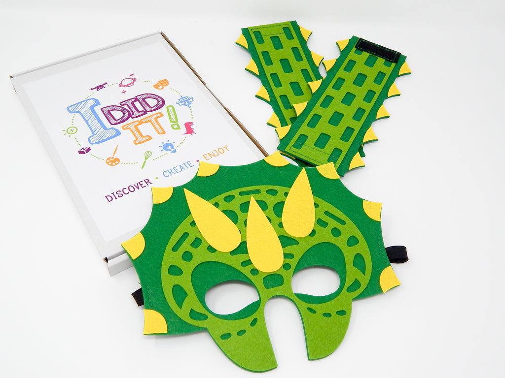 If I were a dinosaur...Design your own Triceratops (Mask & Wristbands) Includes Shipping - I Did It