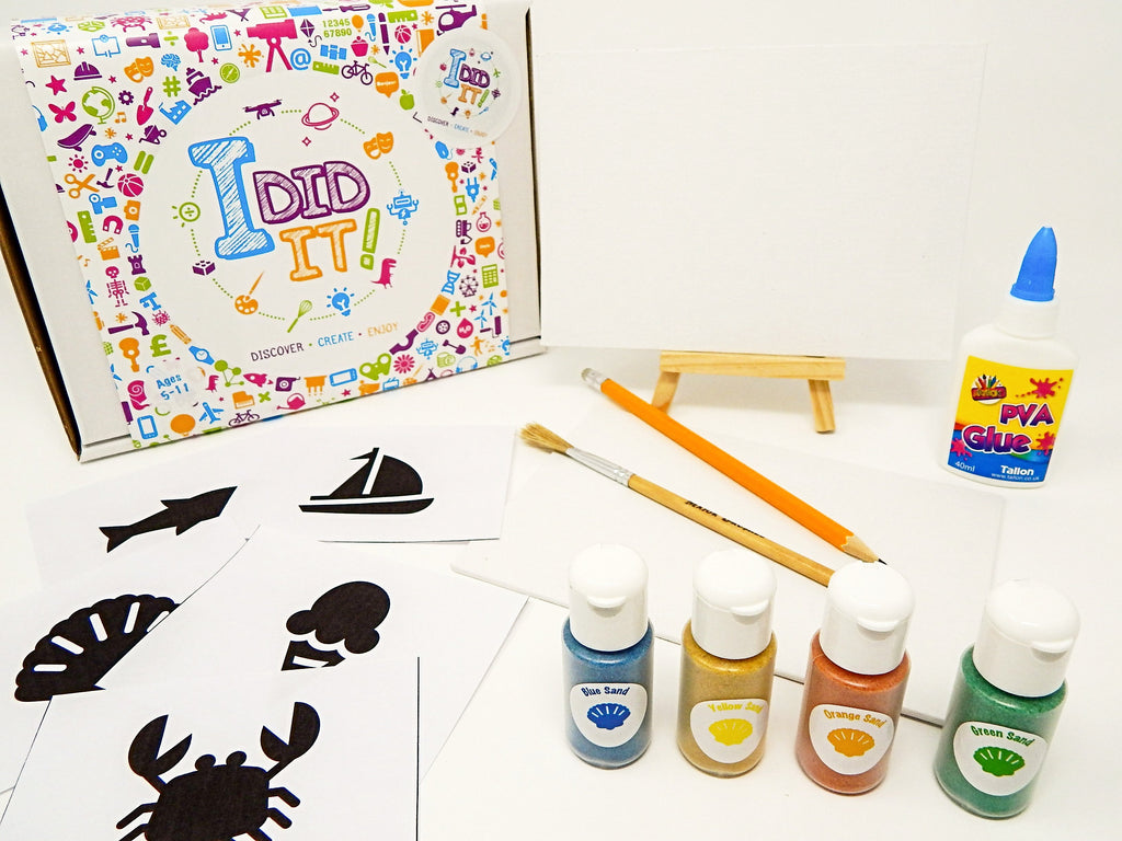 Little Box Big Discovery  - Sand Art Canvas Kit - I Did It