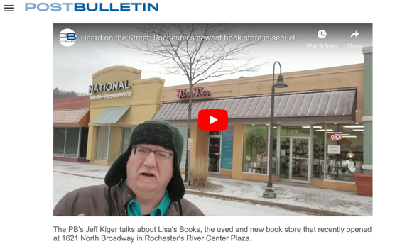 Lisa's Books on Jeff Kiger's Heard on the Street