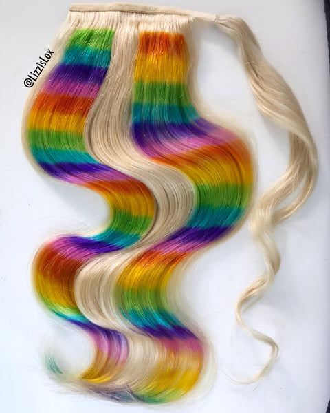 Rainbow Road Ponytail