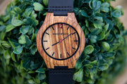 Zebrawood & Black Italian leather