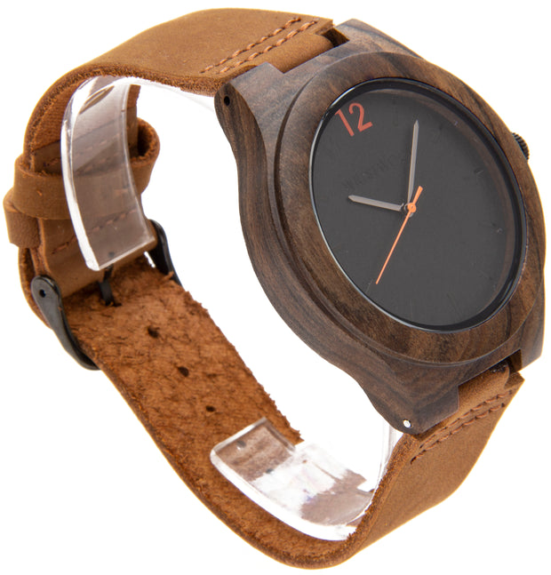 Black Sandalwood & Light Brown Italian leather