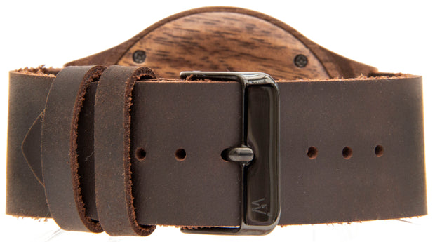 Walnut & Dark Brown Italian leather
