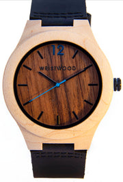 Maplewood & Walnut with Black leather