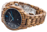 Zebrano Wood & Sky Blue