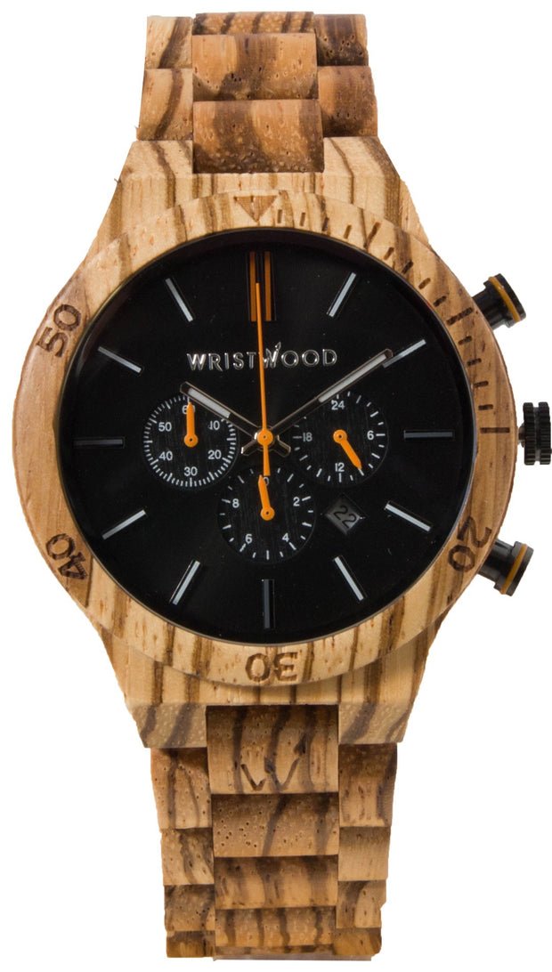Zebrawood & Burnt Orange