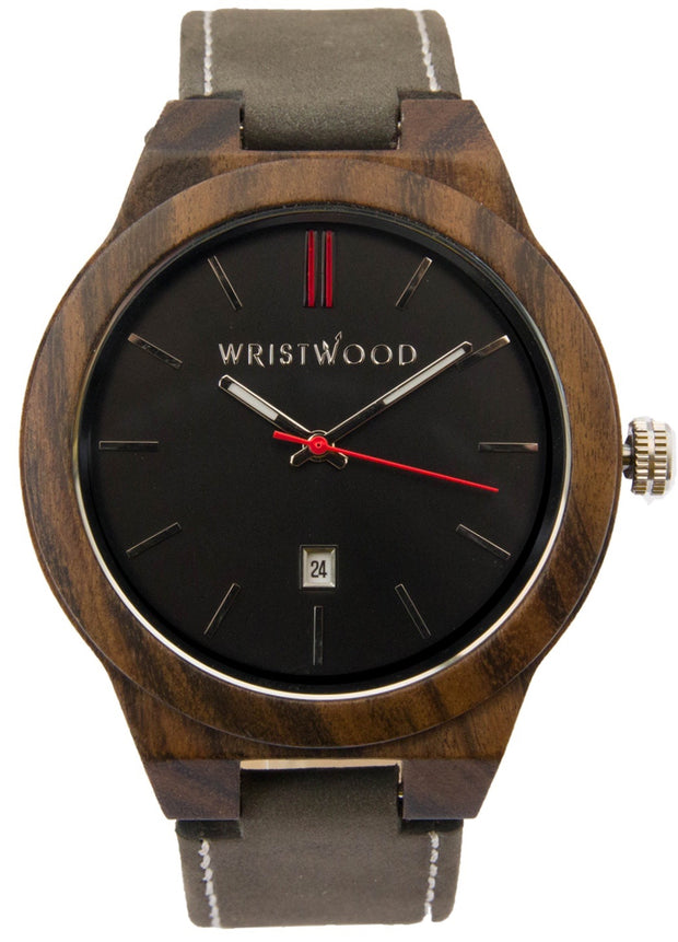 Black Sandalwood & Arrow Red on Slate Grey Suede