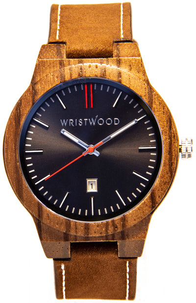 Zebrawood & Dark Brown/Arrow Red