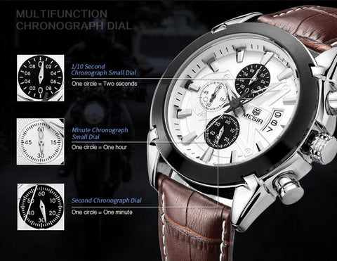 Bristol Chronograph Wristwatch Curio Jewel