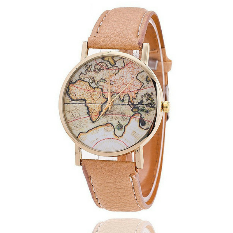 Femme World Map Minimalist Time Teller - Curio Jewel
