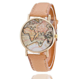 Femme World Map Minimalist Time Teller