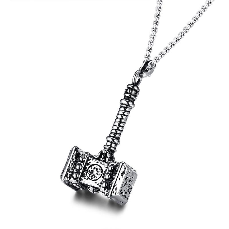 Thor's Hammer Amulet Pendant Necklace - Curio Jewel