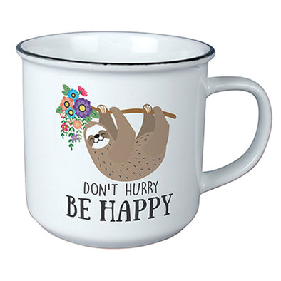 Don't Hurry, Be Happy Sloth Mug