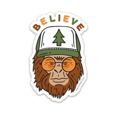 Believe Bigfoot Vinyl Sticker