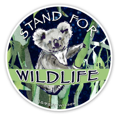 Koala Stand For Wildlife Sticker